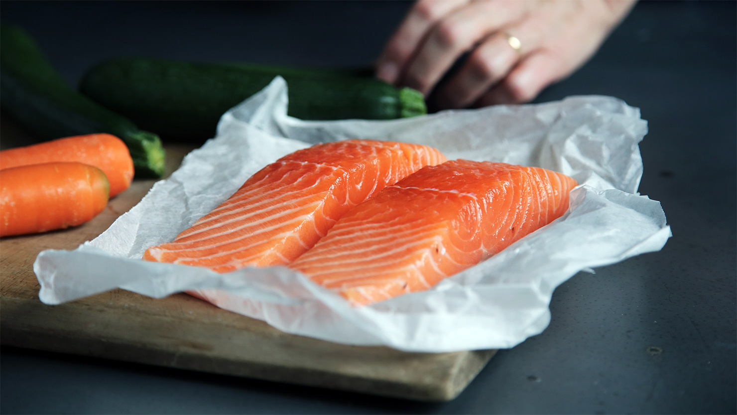 Skin clean-up with salmon